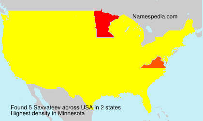 Surname Savvateev in USA