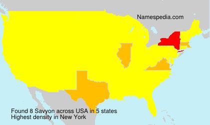 Surname Savyon in USA