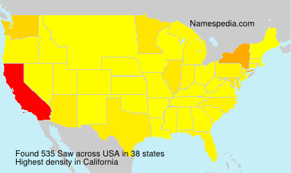 Surname Saw in USA