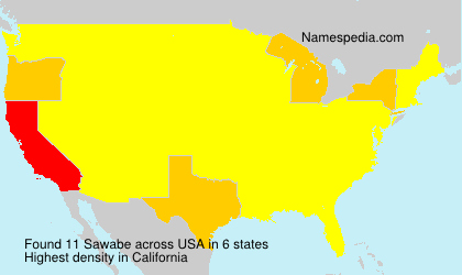 Surname Sawabe in USA