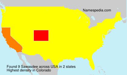 Surname Sawasdee in USA