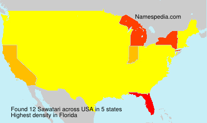 Surname Sawatari in USA