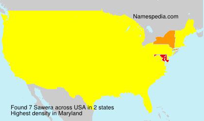Surname Sawera in USA