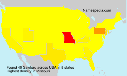 Surname Sawford in USA