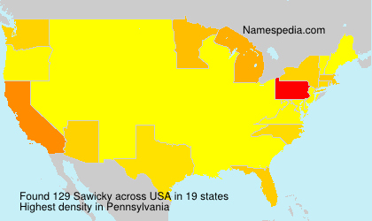 Surname Sawicky in USA