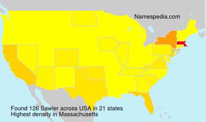 Familiennamen Sawler - USA