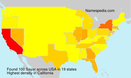 Surname Sayar in USA