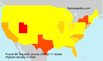 Surname Sayasith in USA