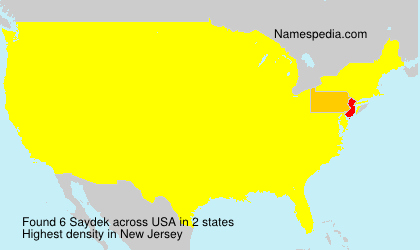 Surname Saydek in USA