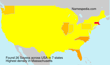 Surname Sayess in USA