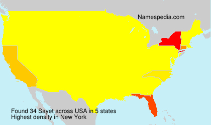 Surname Sayet in USA