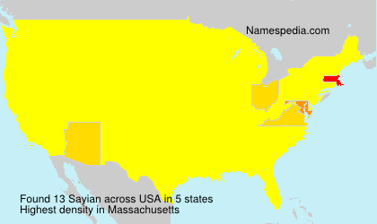 Surname Sayian in USA
