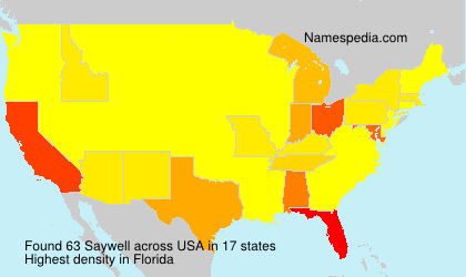 Surname Saywell in USA