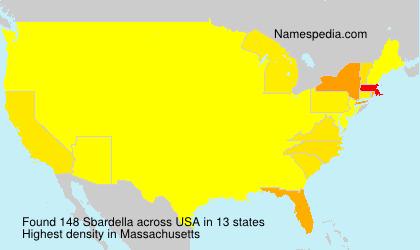 Familiennamen Sbardella - USA