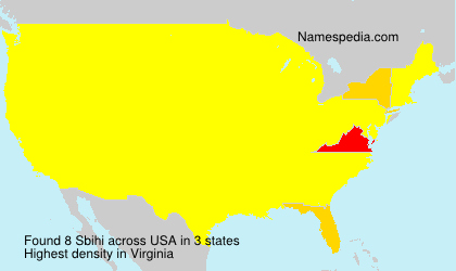 Surname Sbihi in USA