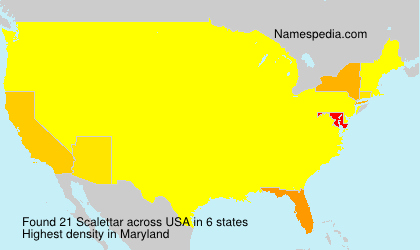 Surname Scalettar in USA