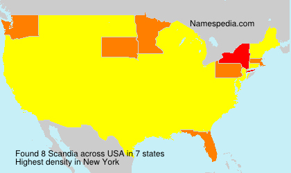Surname Scandia in USA