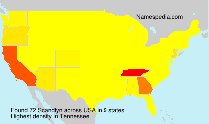 Surname Scandlyn in USA