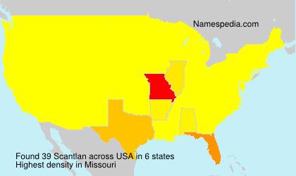 Surname Scantlan in USA