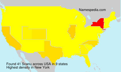Surname Scanu in USA