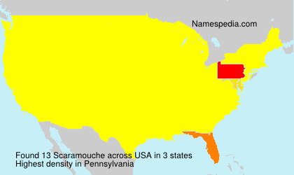 Surname Scaramouche in USA