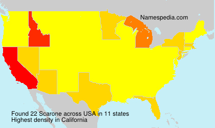 Surname Scarone in USA