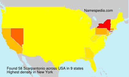 Familiennamen Scarpantonio - USA
