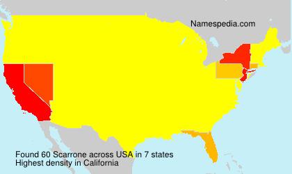 Familiennamen Scarrone - USA
