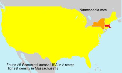 Surname Scarsciotti in USA