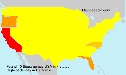 Surname Scarz in USA