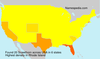 Surname Scawthorn in USA