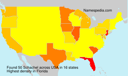 Surname Schachel in USA