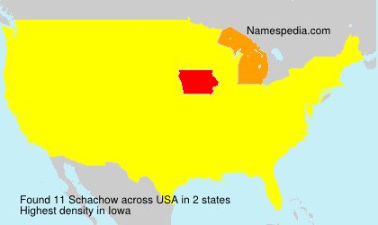 Surname Schachow in USA