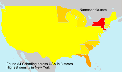 Surname Schading in USA