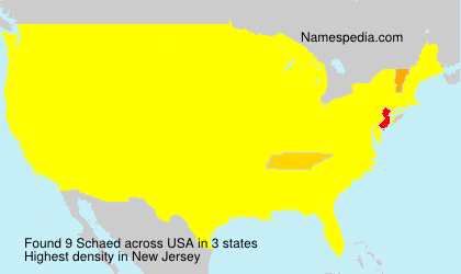 Surname Schaed in USA