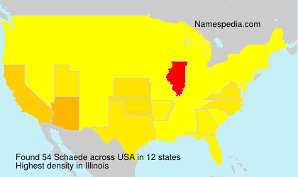 Surname Schaede in USA