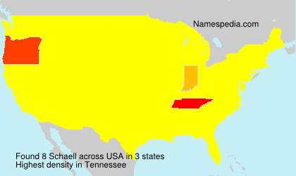Surname Schaell in USA