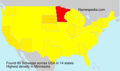 Surname Schaeppi in USA