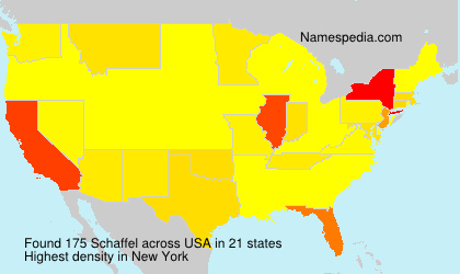 Familiennamen Schaffel - USA