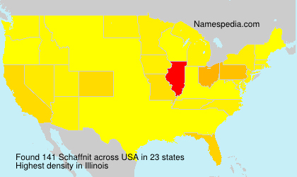 Surname Schaffnit in USA