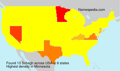Familiennamen Schagh - USA