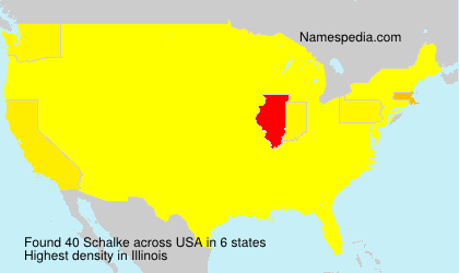 Surname Schalke in USA