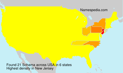 Surname Schama in USA