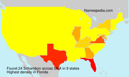 Surname Schambon in USA