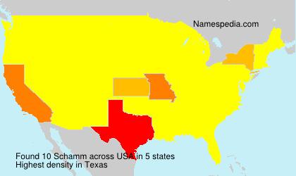 Surname Schamm in USA