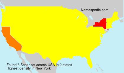 Surname Schankat in USA