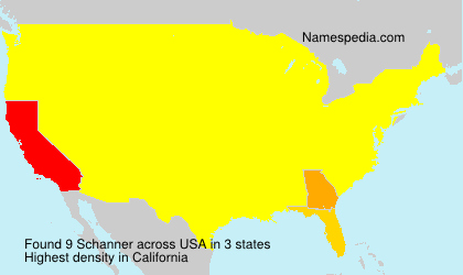 Surname Schanner in USA