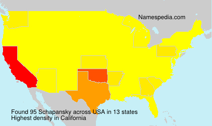 Surname Schapansky in USA