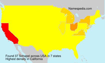 Familiennamen Schapel - USA