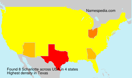 Surname Scharlotte in USA